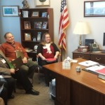 Summit and Start County Farm Bureau members meet with Representative Slaby in her office.