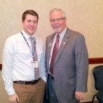 Matt Hartong and Jack Fisher at The OFB's 2015 Ag Day at the Capitol in Columbus