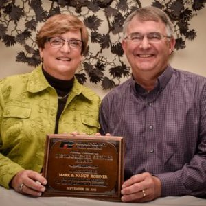 """Mark and Nancy Roesner, The """"Friends of Agriculture"""" Receive the Distinguished Service Award from Summit County Farm Bureau 2016"""